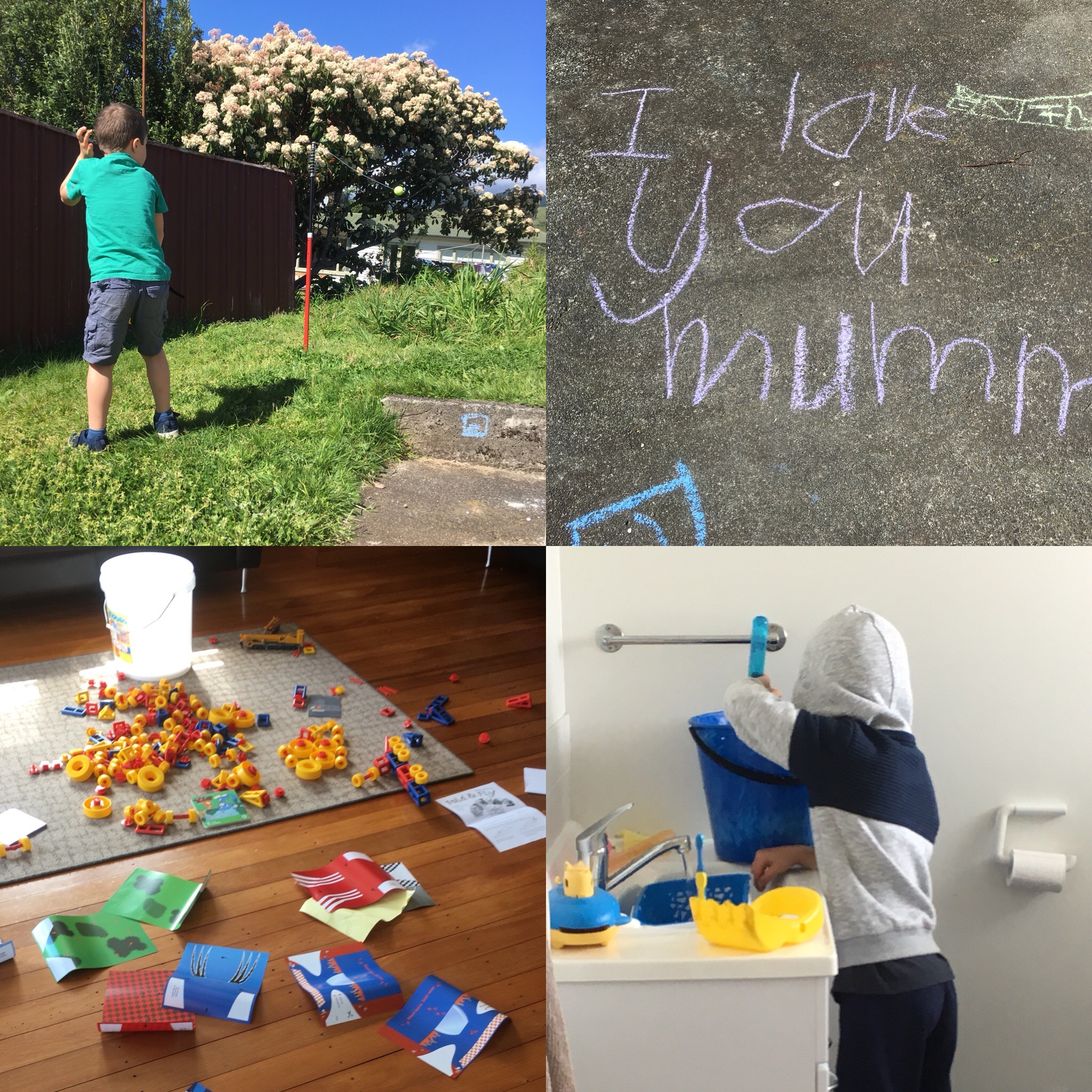 Lots of fun hanging about at home in the October school holidays