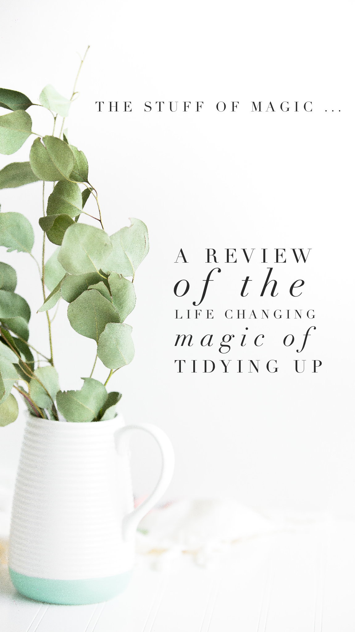 The Stuff of Magic ... A review of The Life-Changing Magic of Tidying Up