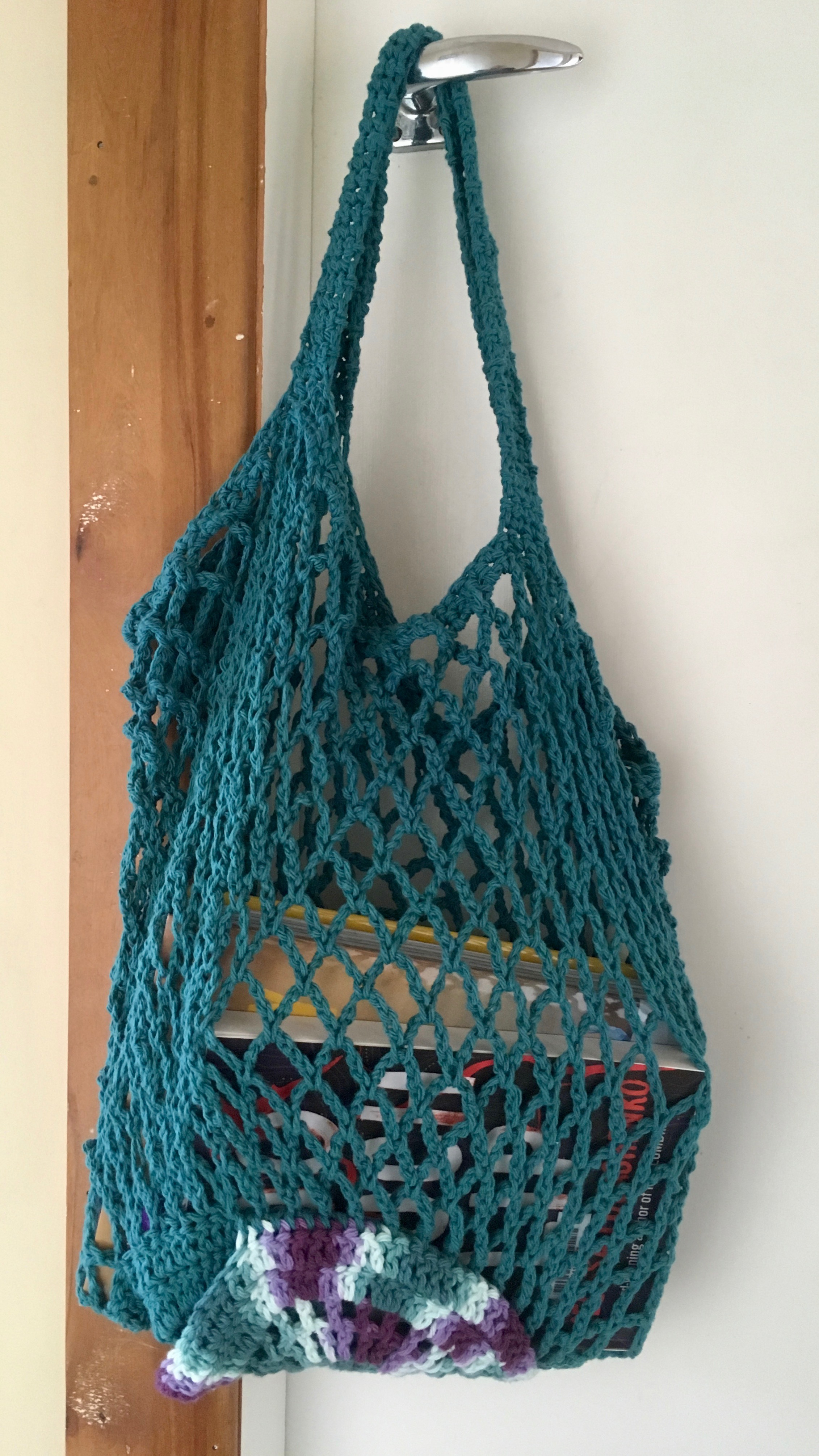 I made it myself: Eco String Bag pattern from Crochet Coach membership service